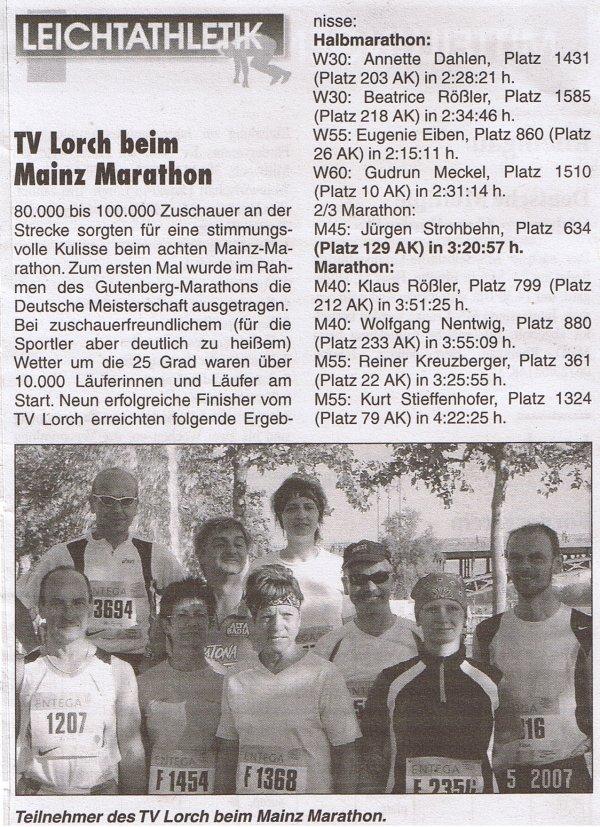 Mainz Marathon 2007