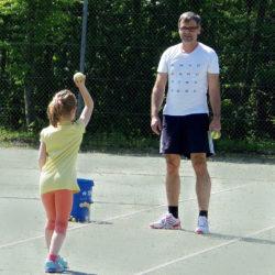 Tennis Schnuppertag Übungen mit dem Ball