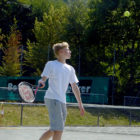 Tennis-Match beim Jugendturnier