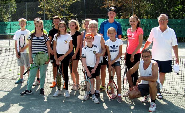 Tennis Jugendturnier Gruppenbild