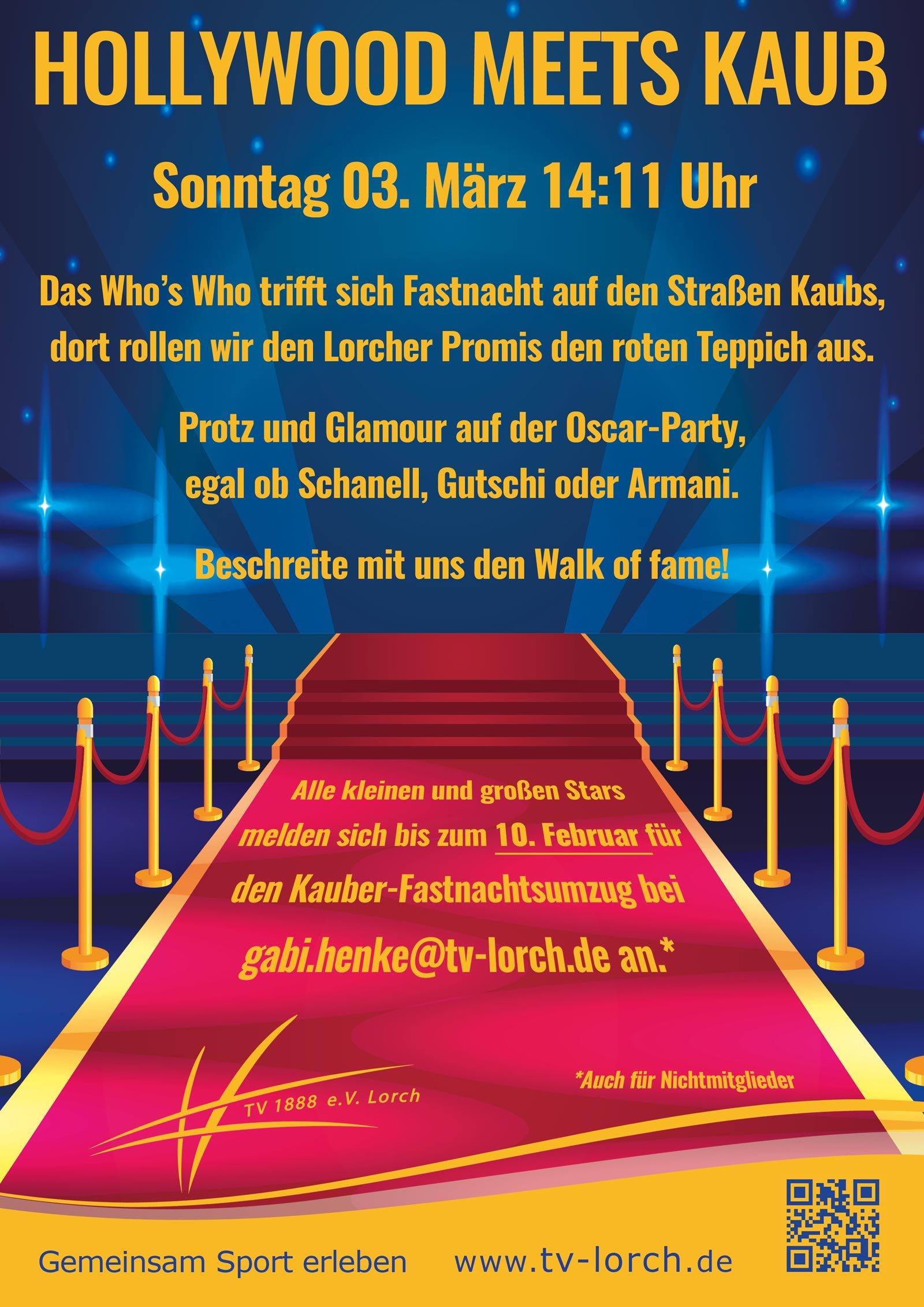 Plakat Fastnachtsumzug 2019 TV Lorch