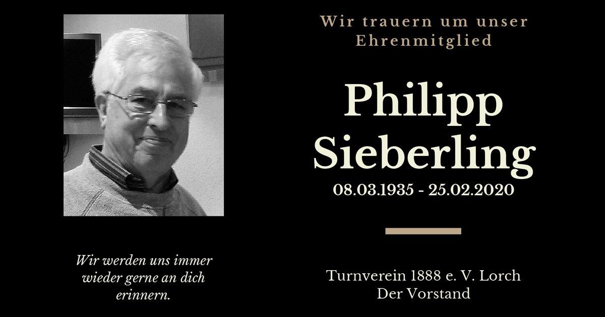 Traueranzeige Philipp Sieberling